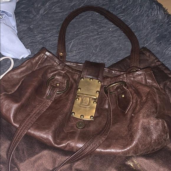 London jocasi Purse dark brown leather purse